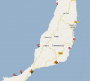 Mappa delle spiagge di Fuerteventura